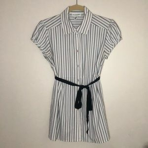 Striped Motherhood Maternity Button-down Blouse
